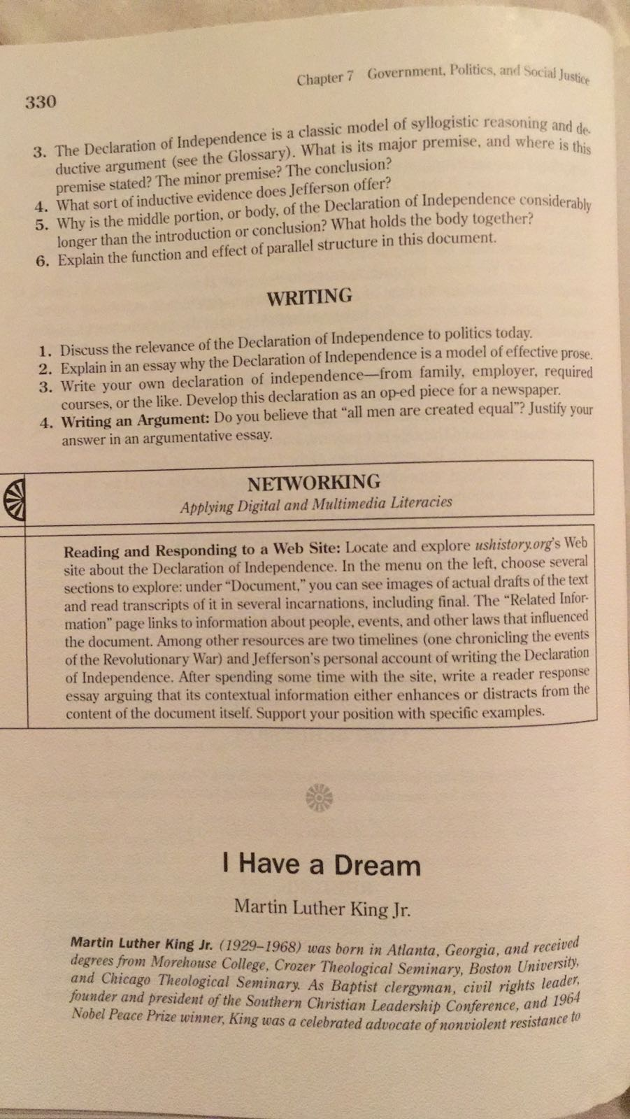 "rhetorical analysis essay on martin luther king i have a dream ""i have a dream"" rhetorical analysis five elements of rhetoric: speaker: martin luther king jr, a baptist minister from atlanta, georgia, who was."