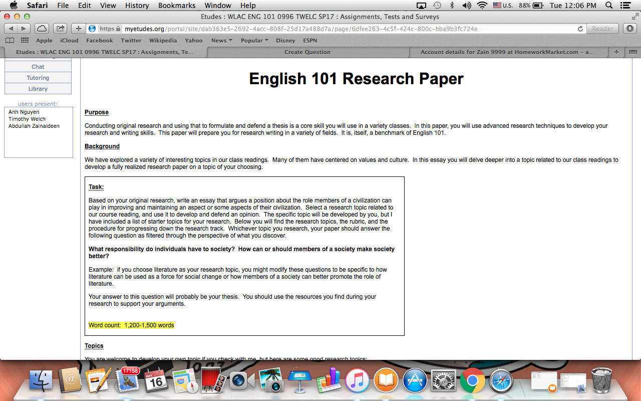 english 101 research paper